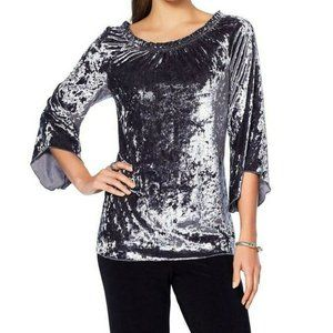 Slinky Brand 2-PC Crushed Velvet Tunic and Pants